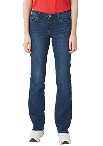 s.Oliver Damen 04.899.71 Bootcut Jeans, Blue Denim Stretch 57Z4, W36/L30