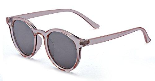 ALWAYSUV Occhiali da sole rotondi con montatura in corno retrò Occhiali protettivi per occhiali da sole UV400
