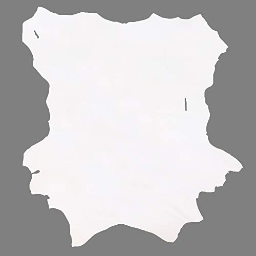 Glacier Wear First Quality Buckskin Leather - Bright White (7.00 to 7.75 sq ft)