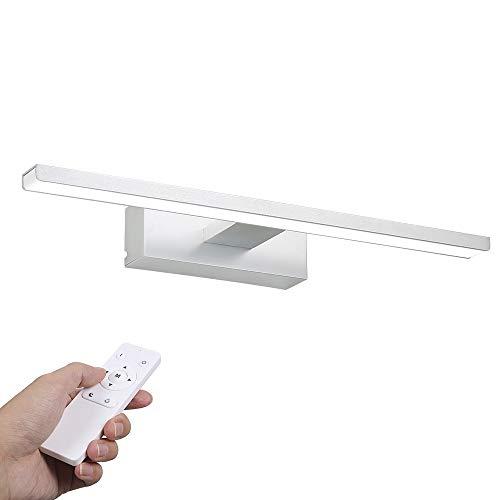LED Spiegelleuchte, Infankey 40CM Dimmbar Spiegelleuchte Bad mit Fernbedienung, 12W 1000LM 6000K 220V, Wasserdicht IP44, Badezimmer Lampe für Badzimmer und Wandbeleuchtung