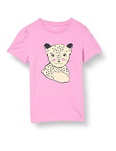 NAME IT Mädchen NKFBEINA SS TOP T-Shirt, Fuchsia Pink, 146-152