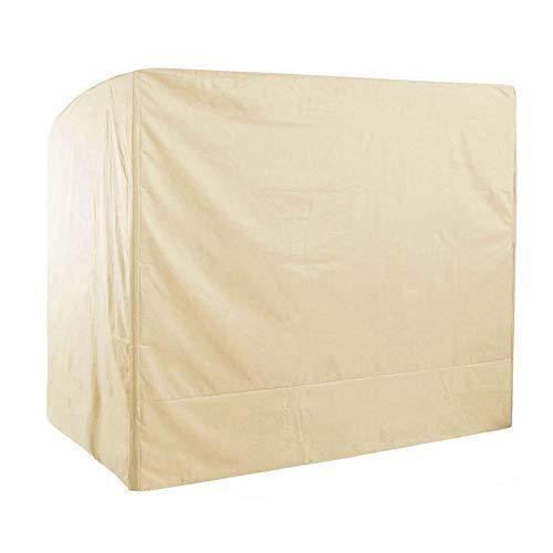 Schutzhüllen für Schaukel, Abdeckhaube für Hollywood Hollywoodschaukel für 2/3-Sitzer Wasserdicht Staub UV-beständig,Beige,203 * 153 * 183cm