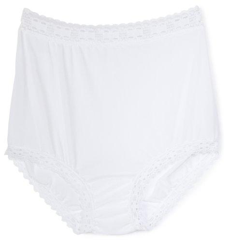 Olga Women's Secret Hug Fashion Scoops Brief Panty, White, 8/XL