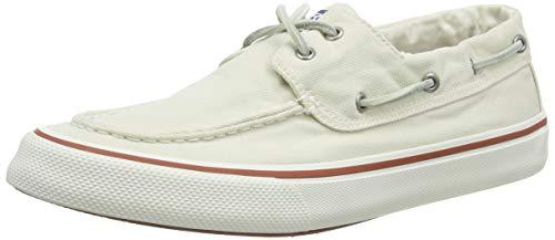 Sperry Men's Bahama II Kick Back Boat Shoe, Off White, 12 M US