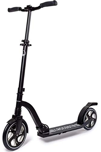 Lascoota Scooters for Kids 8 Years and up - Quick-Release Folding System - Dual Suspension System + Scooter Shoulder Strap 7.9' Big Wheels Great Scooters for Adults and Teens (Dark, Premium Adult)