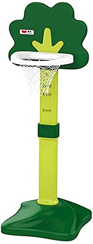 Portable basketball stand Kids Adjustable Basketball Set, Portable Basketball Stand Base For Toddler Children Juniors Indoor Outdoor Play Sports Basketball backboard (Color : Green)