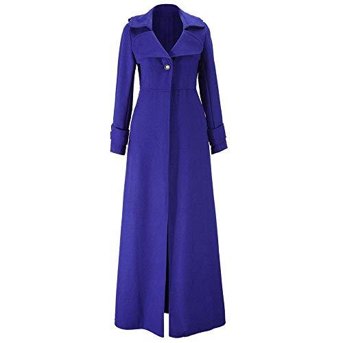 Jskdzfy Chaquetas de mujer para mujer, abrigo largo para otoño e invierno, grueso de manga larga, chaqueta para mujer, abrigos para mujer (color: azul, talla XXXL)