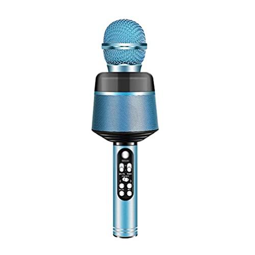 CZYNB Bluetooth inalámbrico Micro-teléfono con Luces portátil Handhold Mic Speaker para teléfonos móviles Cantando Aplicaciones de música