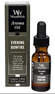 WoodWick EVENING BONFIRE Aroma Fragrance Oils for Ultrasonic Diffusers