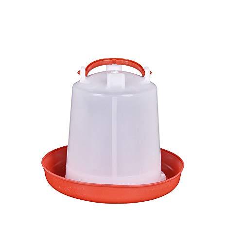 LQKYWNA Juego De Bebederos De Plástico para Aves De Corral con Bebedero Y Mango Herramientas De Agua para Pollo Gallina Codorniz Gallo 1 Kg