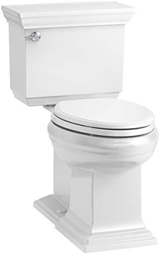 KOHLER K-6669-0 Memoirs Stately Comfort Height 2-Piece Elongated Toilet, 1.28 GPF, White