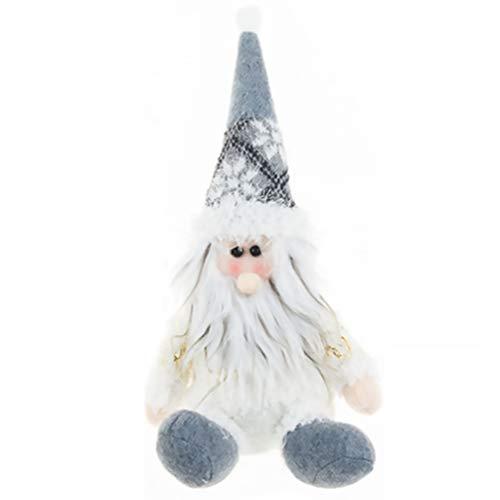 Tomaibaby Gnomos de Peluche de Navidad Sentado Tomte Sueco Muñeco de Santa de Peluche Muñeco de Árbol de Navidad Decoración de Mesa de Navidad para El Estante del Hogar