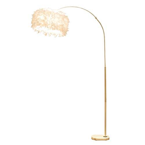 Xu Yuan Jia-Shop Lampadaire Moderne Personnalité Creative Plume Couverture LED Lampadaire Lampe De Pêche Salon Chambre Lampadaire Vertical pour Salon, Chambre, Bureau (Color : White12W)