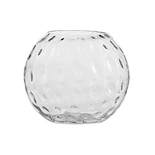CRISTALICA Kugelvase Kula Bubble Famous 25cm Blumenvase Dekoration Gefäß Klarglas Geschenk