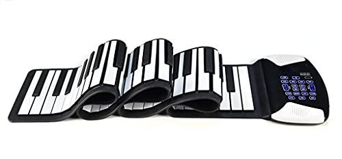 FEFCK Piano Enrollable 88 Teclas con Altavoces Estéreo Soporta Bluetooth Inalámbrico Y Midi/USB para Principiantes Adultos Fáciles De Llevar Black