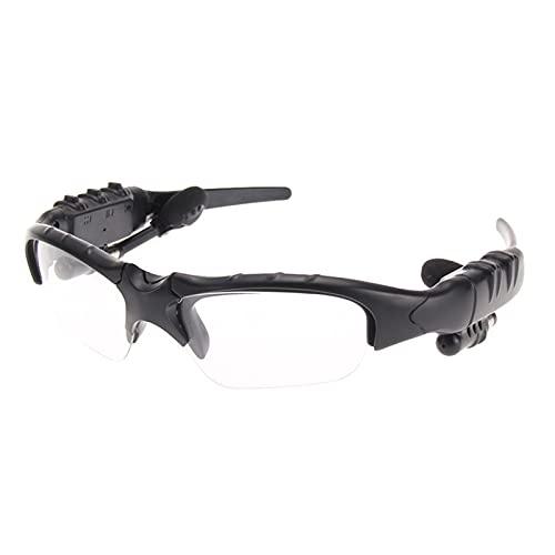 DIOUS Gafas de Audio Inteligentes, música Escuchando música estéreo, Deportes inalámbricos, para Juegos de Juegos de Viaje con vidrios Bluetooth Bluetooth,Clear