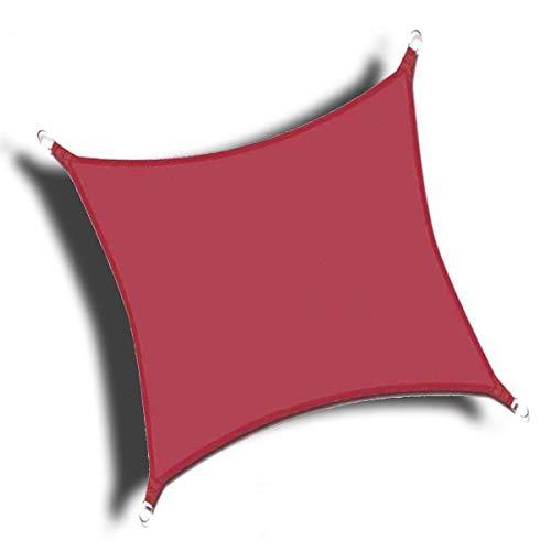 Lingle888 Sonnensegel Sonnenschutz Sonnendach Wasserdicht 98% UV-Schutz Balkon Viereck Rechteck Quadrat Winddicht 8Tage Transport 420D 10Farbe 25Größe (3x2.5, Weinrot)