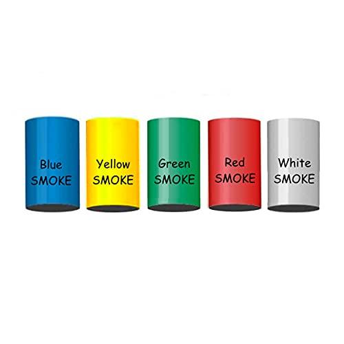 5 Stück h2i Color Mix Bengalo Rauch Vulkan Fontäne Party Feuerwerk Rauchfarbe Rot - Weiß - Grün - Blau - Gelb/Ganzjahresfeuerwerk Kat T1/ F1
