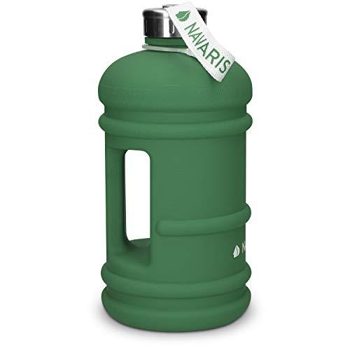 Navaris 2,2 Liter Fitness Trinkflasche - XXL Flasche Gym Bottle BPA-frei - Sport Wasserflasche Water Jug - Sportflasche stabil versch. Farben