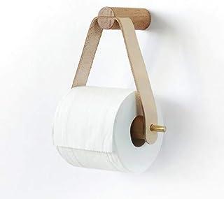 Rond D/érouleur Support Papier WC Bois Porte-Rouleau de Papier sans Percage pour Salle de Bain et Cuisine Porte Papier Toilette Adhesif /Écologiques HONZUEN Derouleur Papier Toilette Bois