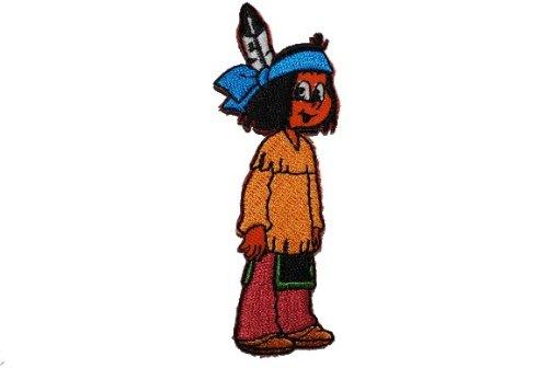 alles-meine.de GmbH Yakari 3,3 cm * 8,5 cm Bügelbild Aufnäher Applikation Indianer Cowboy Junge