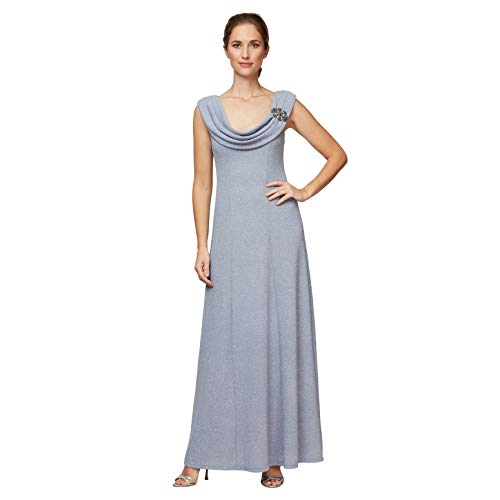 Alex Evenings Women's Mother of The Bride, Lavender Silver, 14