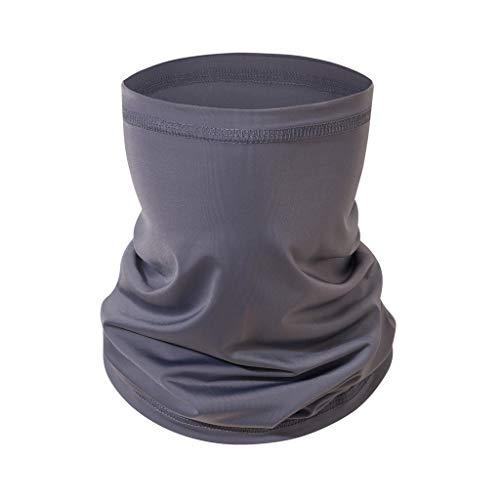 MOTOCO Multifunktionstuch Herren Schnelltrocknend Atmungsaktiv Kopftuch Damen Super Elastisch Sonnenschutz Halstuch für Motorrad Laufen Wandern(25X50CM.Grau)