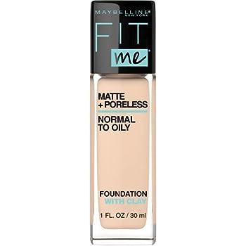 Maybelline Fit Me Matte + Poreless Liquid Foundation Makeup Ivory 1 fl  oz  Oil-Free Foundation