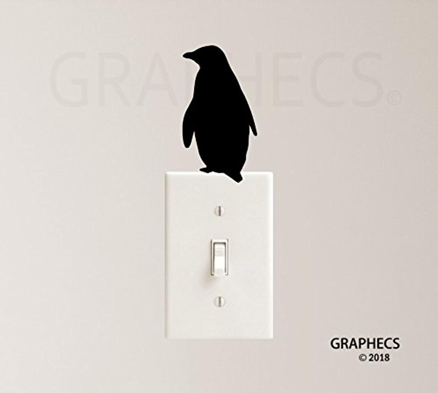 Penguin Vinyl Decal Sticker Bird Light Switch Kids Nursery Home Decor
