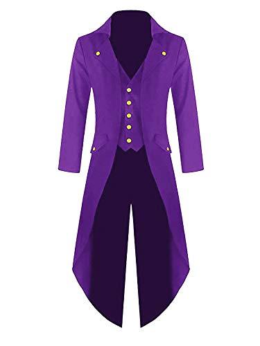 Purple Gothic Steampunk Overcoat