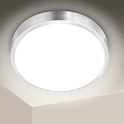 Hengda 15W LED Deckenleuchte Bad, 1350LM Rund Badezimmerleuchte, Balkonleuchte Schutzart IP44, für Küche, Flur, Wohnzimmer, Wandlampe, ersetzt 120W Glühlampe