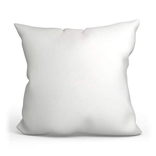Cuscino imbottito in microfibra (Bianca, 60 x 60 cm)