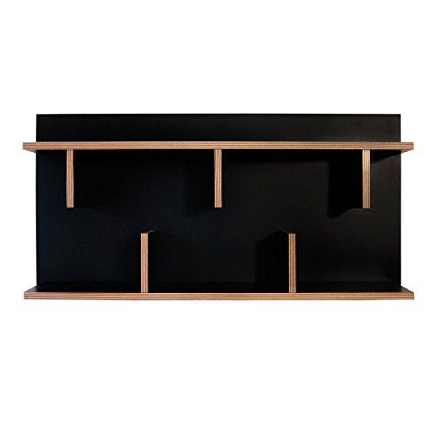 Bron Wandregal 90 x 23 cm, h 45 cm - schwarz