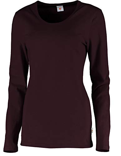 Whitewear Langarm Stretch-T-Shirt Carol Long-Shirt Basic Wear Rundhals Gr. XL Bordeaux