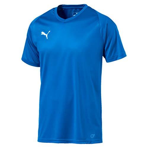 PUMA Liga Jersey Core, Maglietta da Calcio Uomo, Blu (Electric Blue Lemonade/White), M