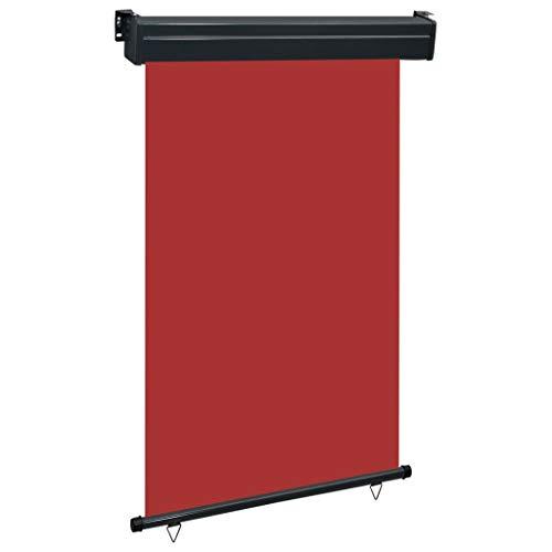 vidaXL - Toldo lateral para balcón, 120 × 250 cm, color rojo