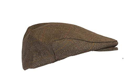 Walker and Hawkes - Boina Unisex de Tweed - Gorra de Estilo campiña Inglesa - Ideal para la hípica y la Caza - Tweed marrón - XL