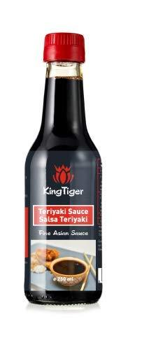 KingTiger Sauce Teriyaki – Oosterse saus ideaal om de smaak van uw levensmiddelen te verbeteren, 250 ml