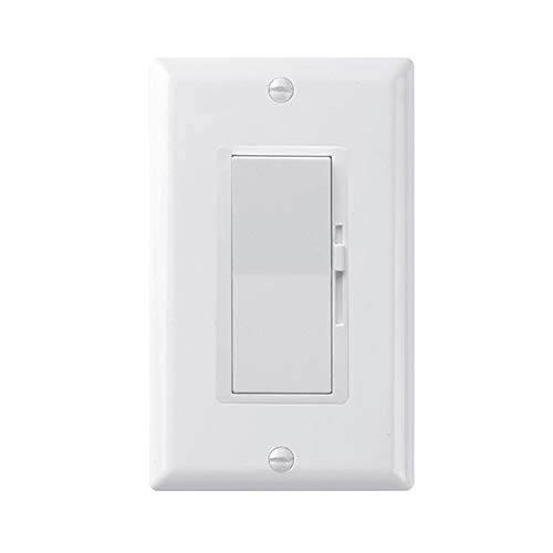 Pack of 1 - QPLUS Premium Digital Dimmer Switch for LED/Incandescent/Halogen/CFL Lights (Upto 150W for LED /600W for Traditional Bulbs)