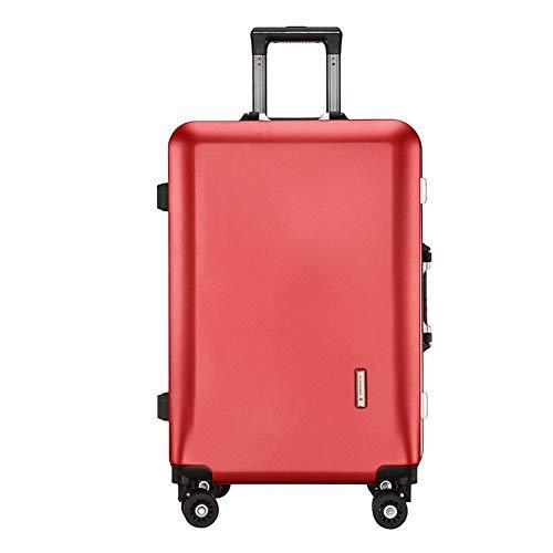 Lightweight PC Suitcase 4 Wheels Spinner Luggage Vertical Strip Travel Trolley Case (20'/22'/24') (22',F)