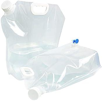 INSANYJ Lot de 2 bidons d'eau pliables de 10 l - Avec robinet - Portable - Sans BPA - Pour le camping, la randonnée, les pique-niques, l'escalade, les excursions en plein air