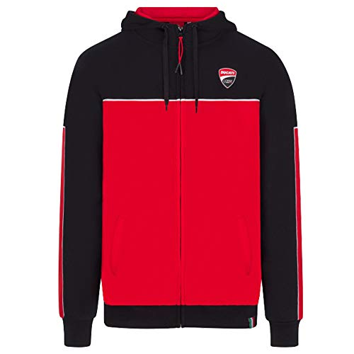 Ducati Corse 2020 Racing Team Kapuzenjacke für Herren, offizielles MotoGP, Schwarz Ducati Hoodie Sweatshirt, Mens (XL) 112cm/44 inch Chest
