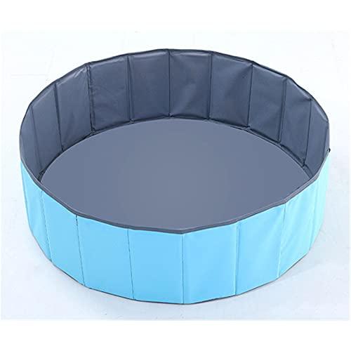 MSDFNSQ Piscina con bolas de juego para niños, piscina de bolas plegable redonda para familias, cerca, apta para niños y niñas, parque infantil (azul)