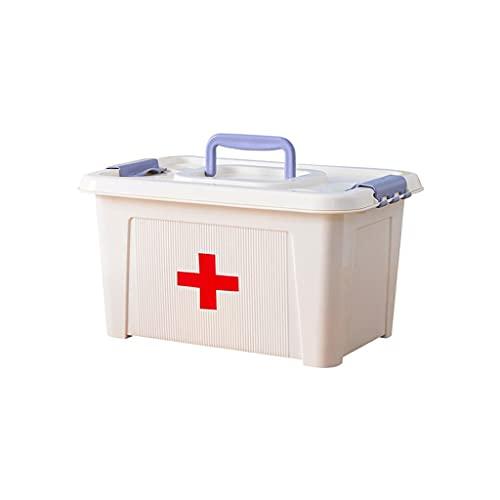 Caja médica portátil de doble capa Caja de primeros auxilios Caja de medicamentos Caja de almacenamiento Caja de almacenamiento Caja de almacenamiento de plástico Caja de almacenamiento de plástico 8,