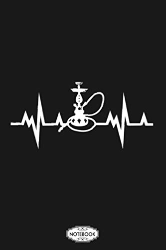 Shisha Smoker Shishabar Heartbeat Notebook: Diary, Matte Finish Cover, Lined College Ruled Paper, Journal, 6x9 120 Pages, Planner