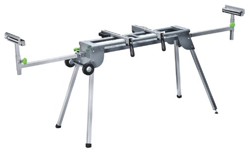 Genesis GMSS400W Universal Heavy-Duty Folding Miter Saw Stand with Quick-Release Mounting Brackets, Tool-Free Adjustment, Wheels, and All-Steel Construction