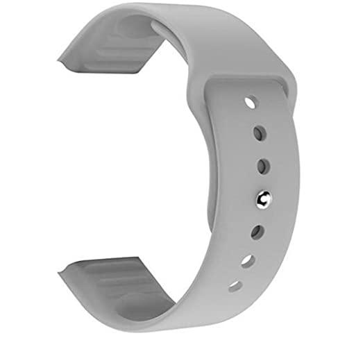 nJiaMe Mira la Correa de reemplazo TPU Correas de Reloj compatibles con Smart Relojes X6 Plus Deportes Repuesto Correa de Accesorios Gris