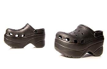 Cape Robbin Gardener Platform Clogs Slippers for Women Women's Fashion Comfortable Slip On Slides Shoes - Black Size 9