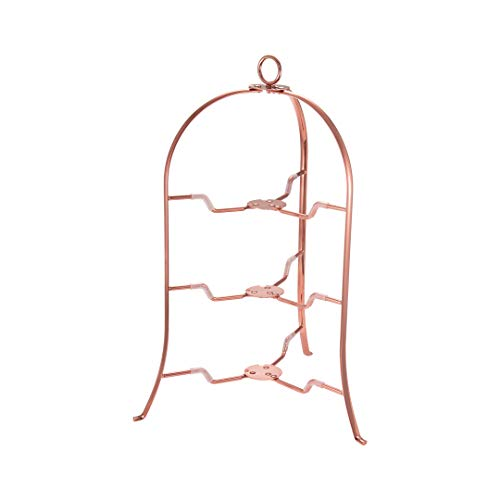 CASUAL PRODUCT ボブスタイル プレートスタンド 3段 カッパー 直径18~24cmのお皿が使える スペース有効活用 折りたたみ式 収納に便利 アフタヌーンティー