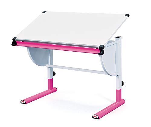 Inter Link Schülerschreibtisch Kinderschreibtisch Arbeitstisch Schreibtisch MDF Weiss Pink